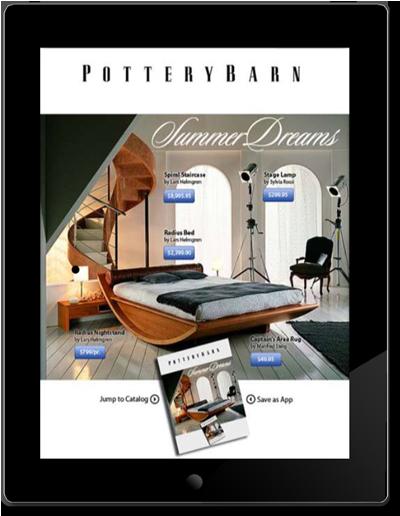 Electronic magazine advertisement